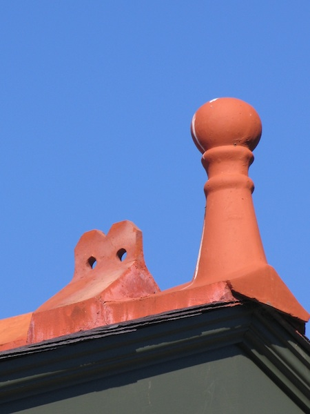 Terracotta Finial and crest capping