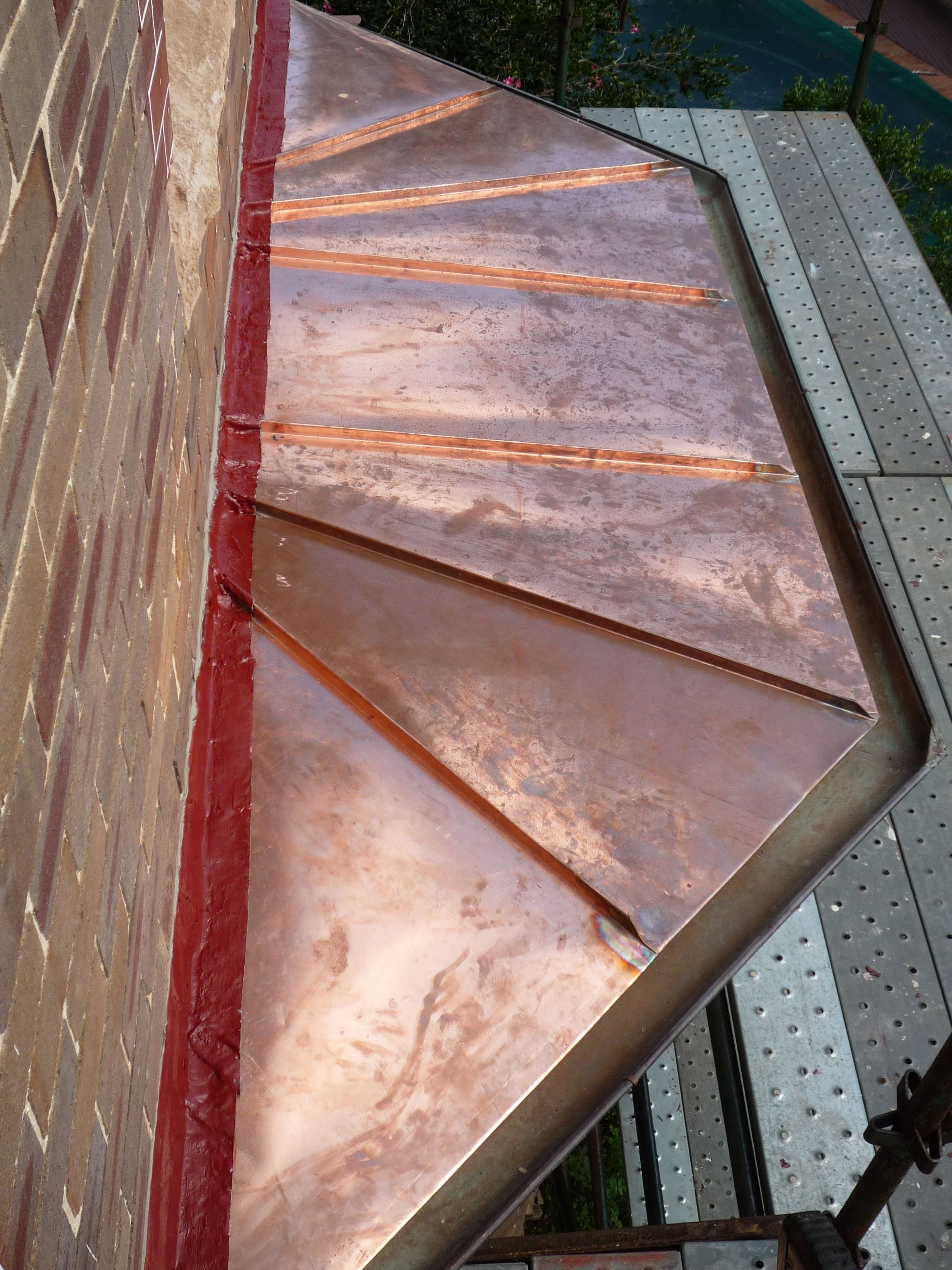 Copper roofing Sydney-Bay window