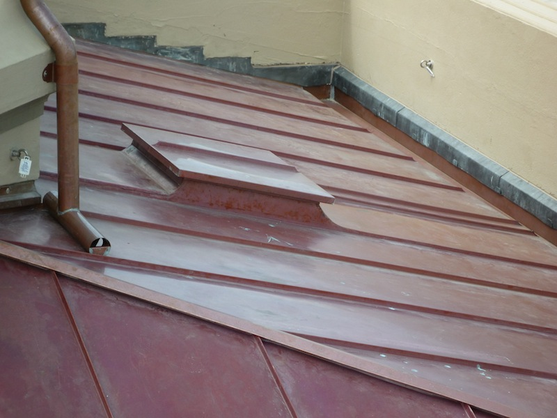 Copper roofing Sydney-Standing seam & roof hatch