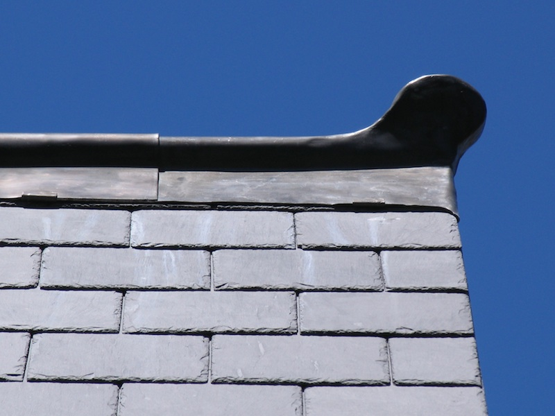 Slate roofing Sydney-Welsh Penrhyn slate,Traditional Lead Finial