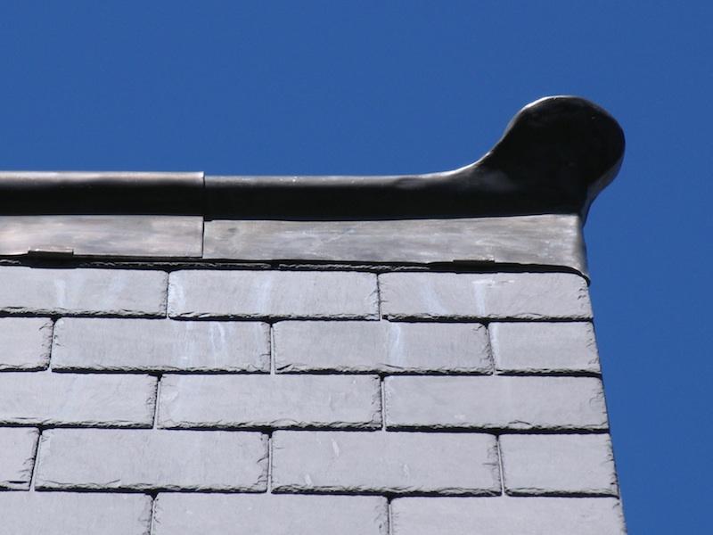 Slate roofing Sydney-Welsh Penrhyn slate,Traditional Lead Finial