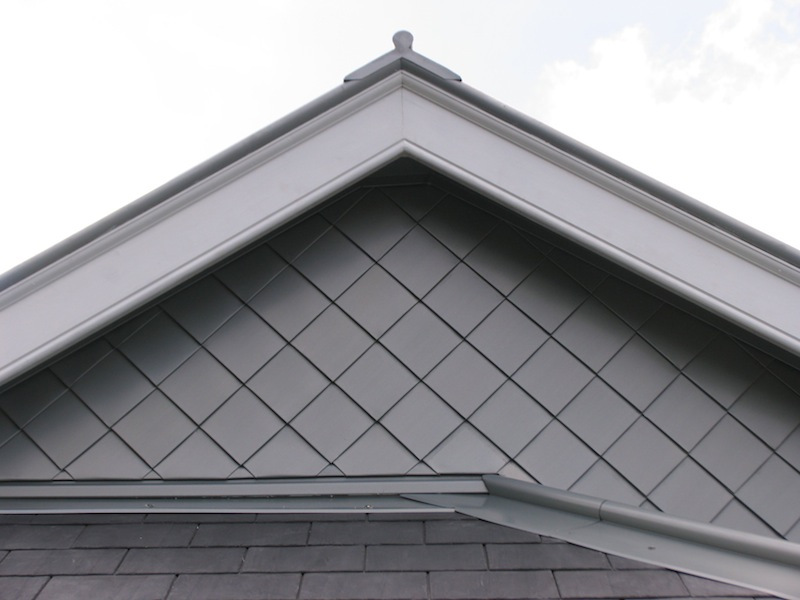 Zinc roofing Sydney-Zinc diamond cladding,cappings and flashing