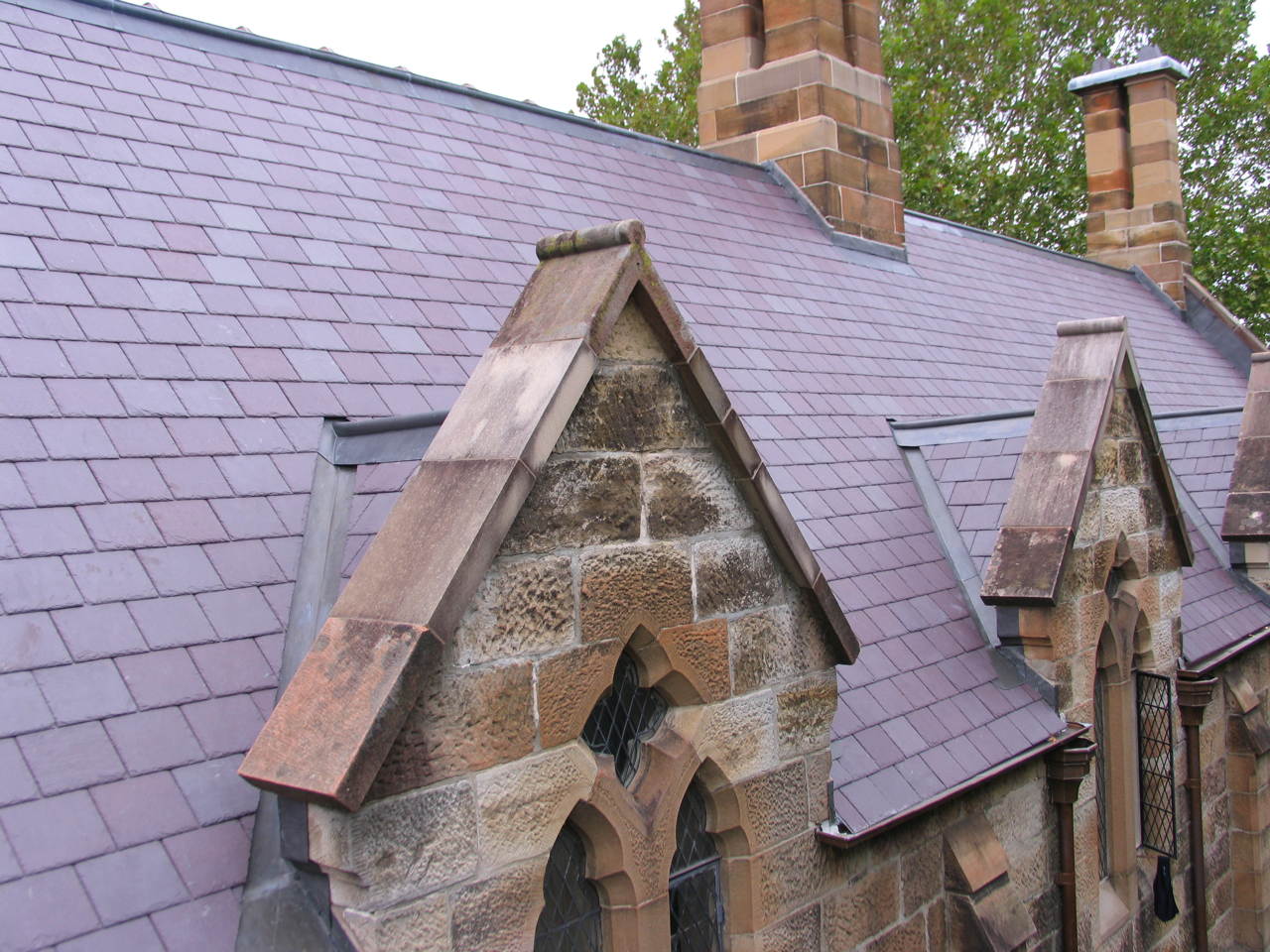 Heritage slate roofing, St.Pauls' College, Sydney