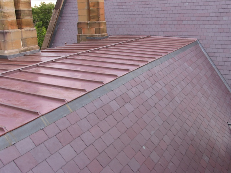 Heritage roofing Sydney-Copper and Slate roofing.