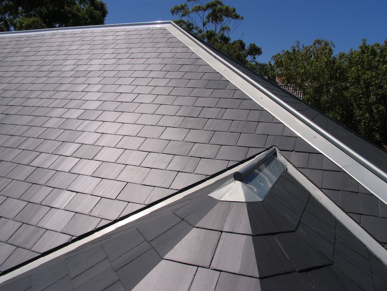 Slate roofing Sydney-Glendyne slate,Zinc valleys&ridge capping