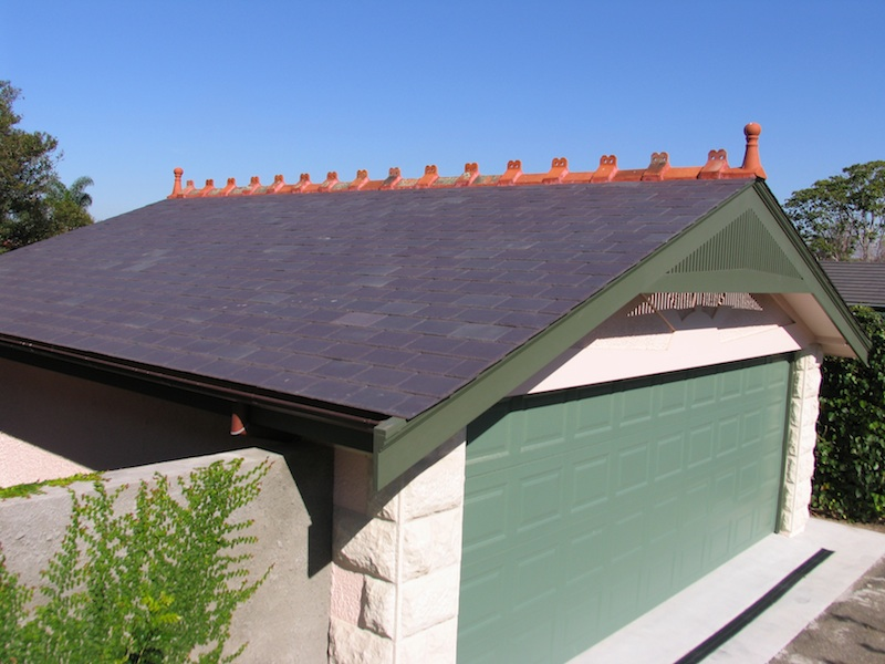 Slate roofing Sydney-Welsh Penrhyn slate,Terracotta cappings,Copper guttering