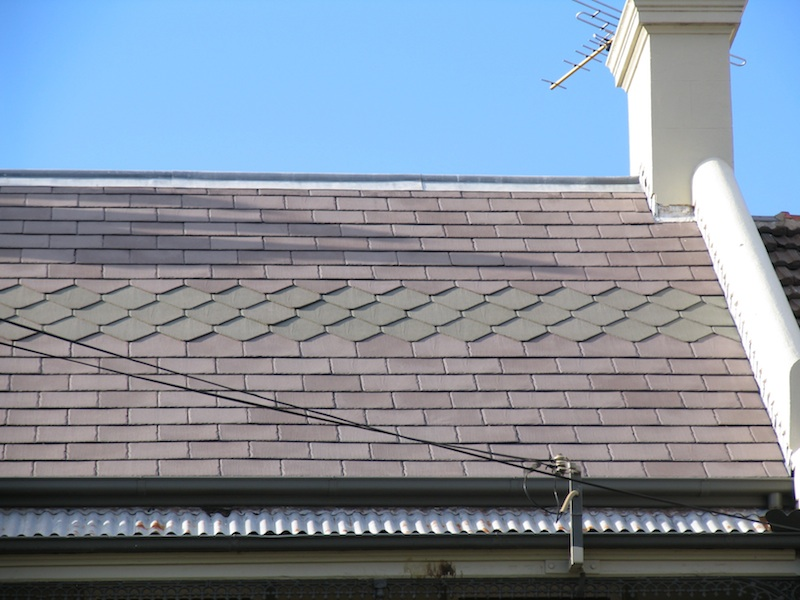 Slate roofing Sydney-Welsh slate with pattern