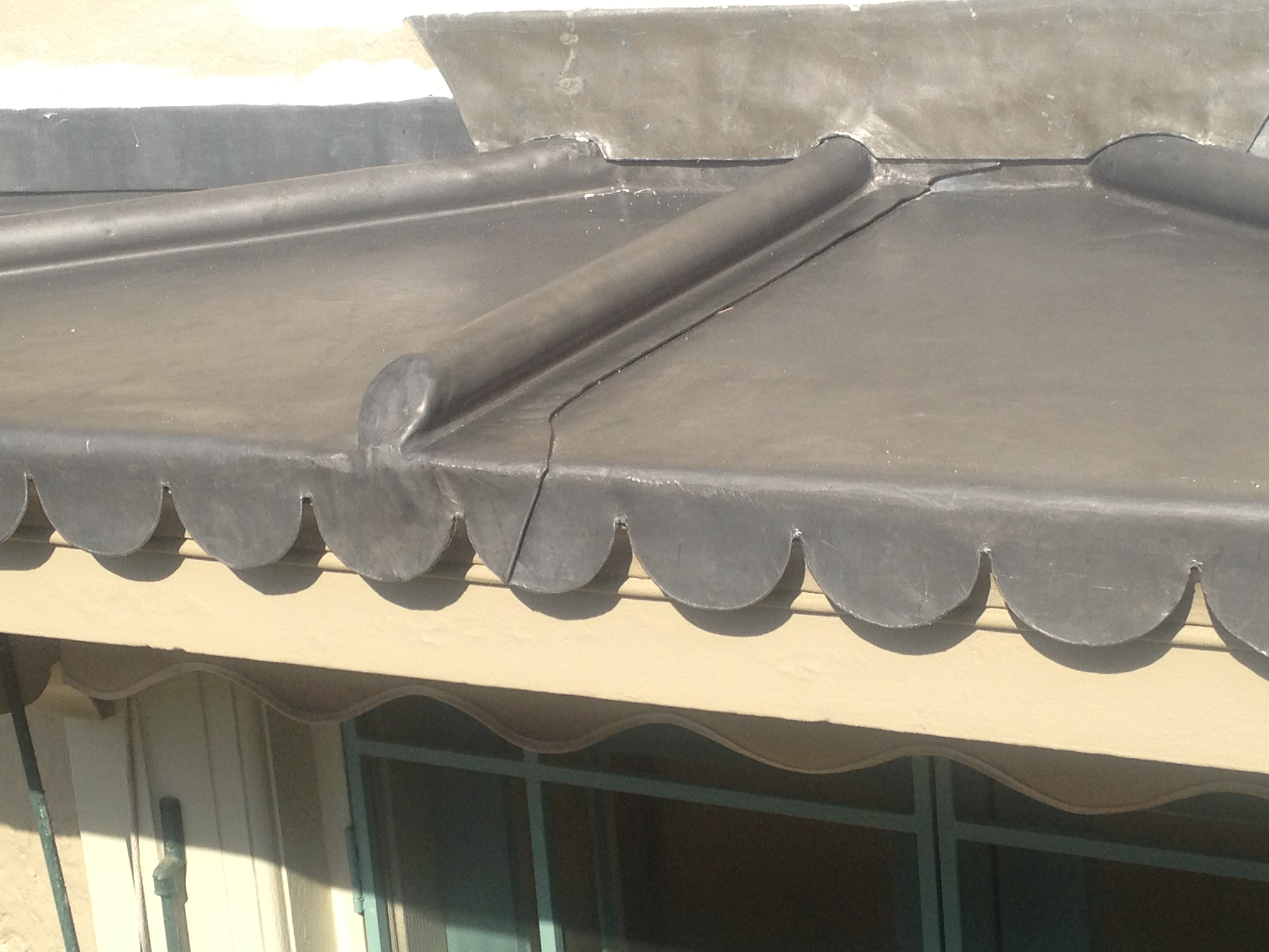 Traditional Leadwork Canopy