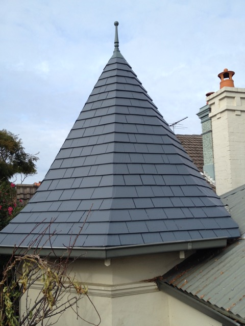 Cedar Shingle Turret
